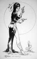 Elvira and Supergirl by Jim Mooney
